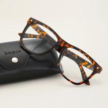 Maenner Brille mit Schildpatt Muster