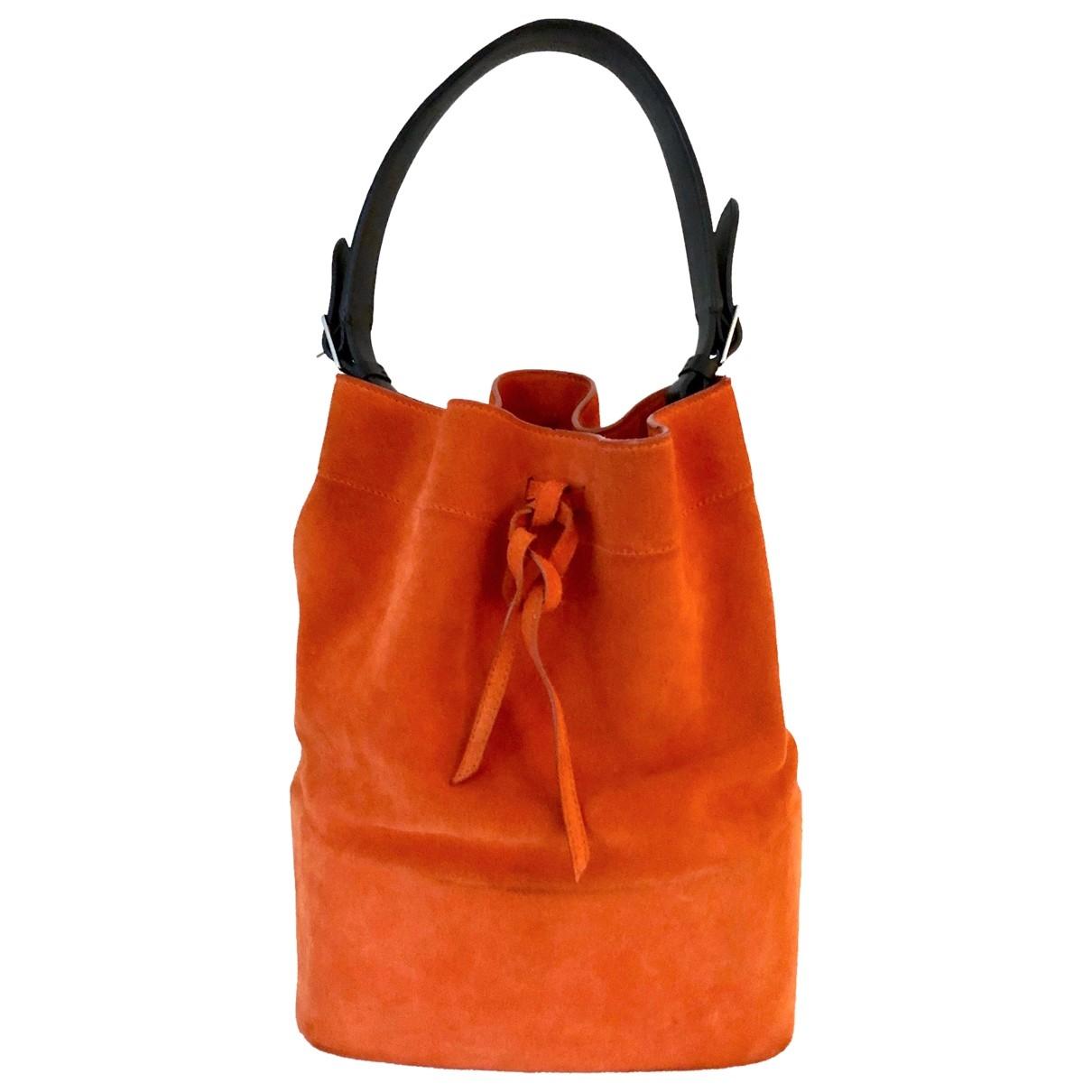 Celine \N Orange Suede handbag for Women \N