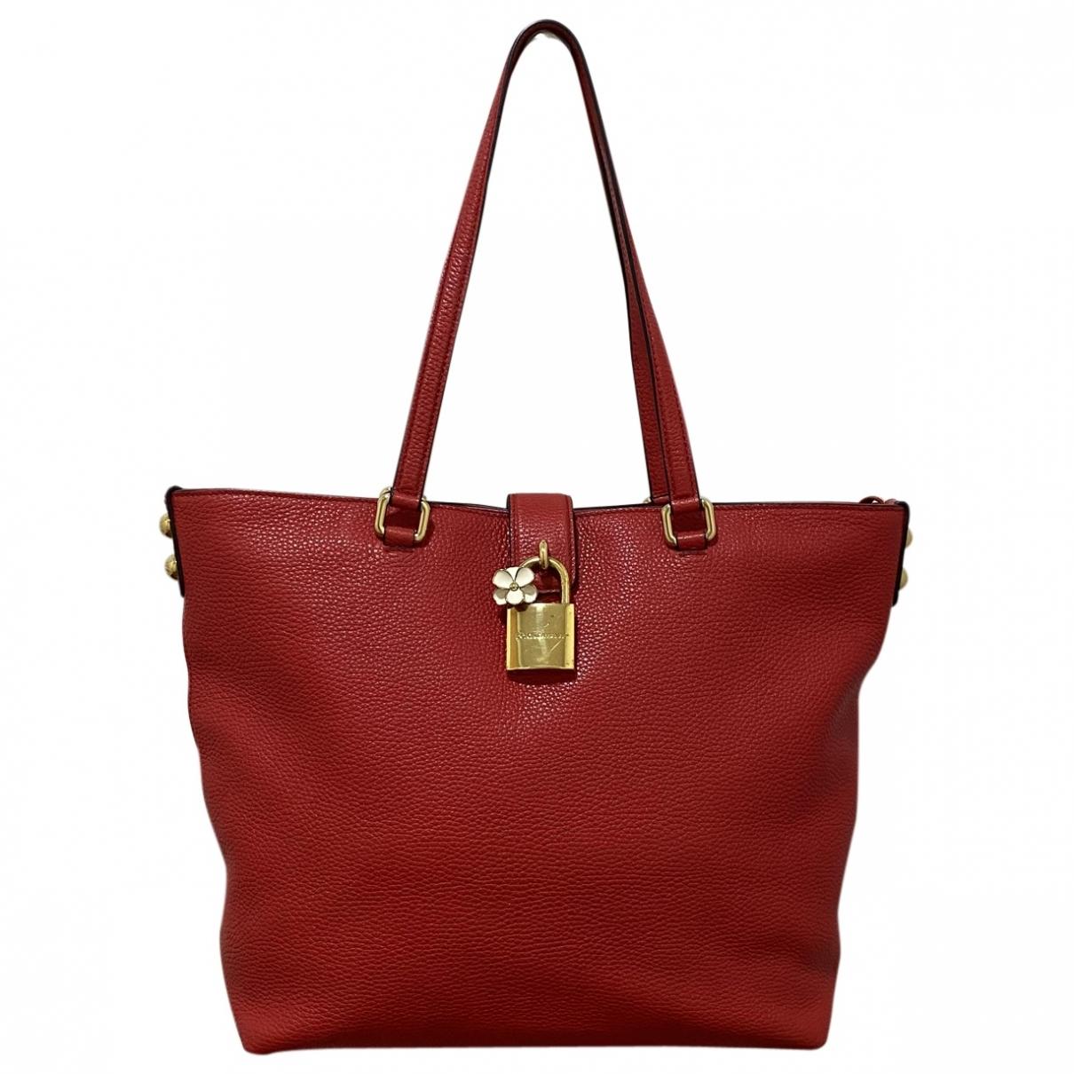 Dolce & Gabbana - Sac a main   pour femme en cuir - rouge