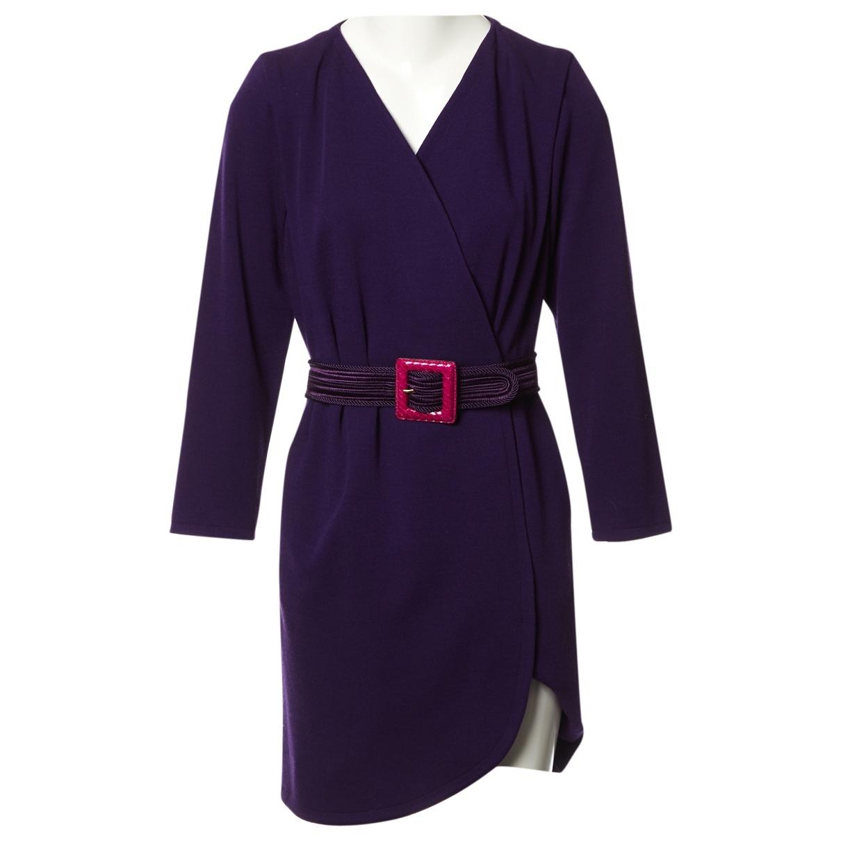 Yves Saint Laurent \N Kleid in  Lila Wolle