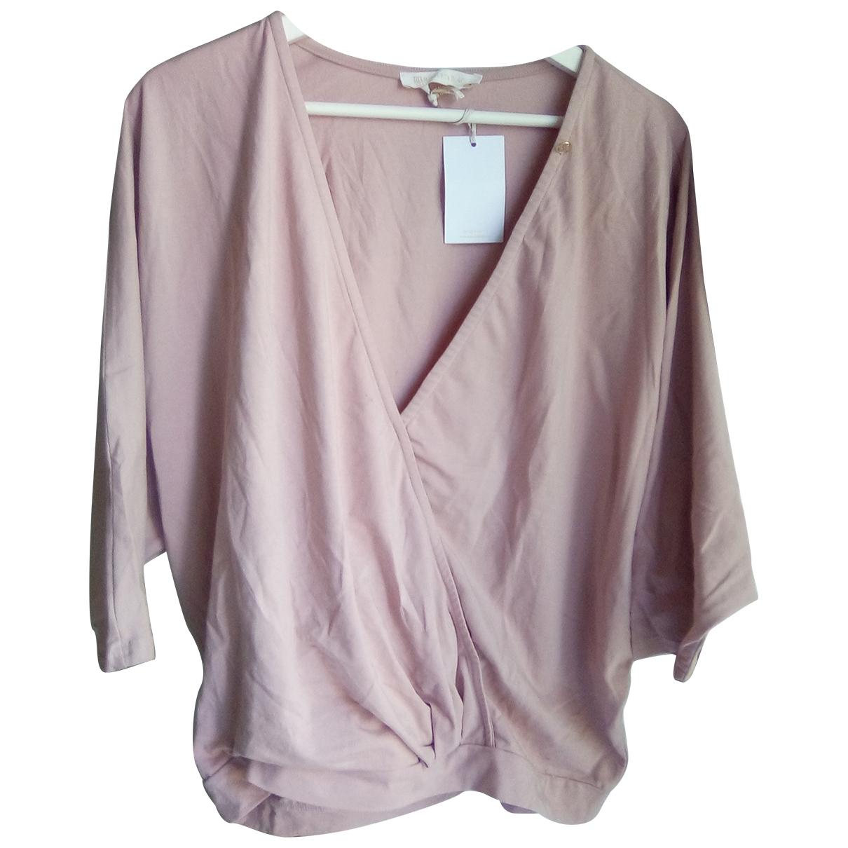 - Top Manche ballon pour femme en coton - rose