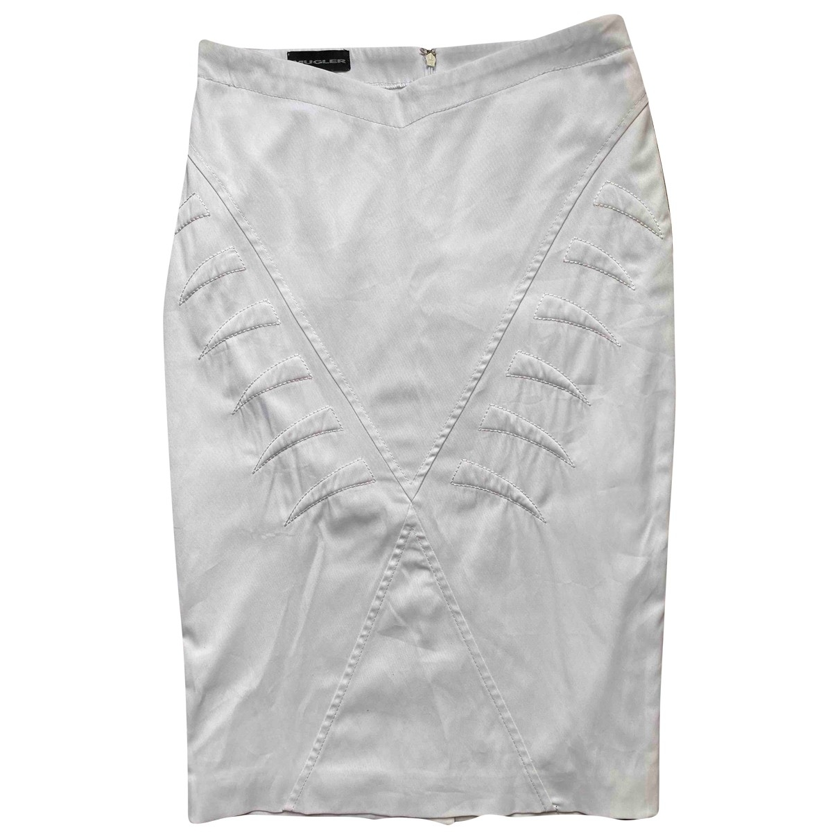 Mugler \N White skirt for Women 38 FR
