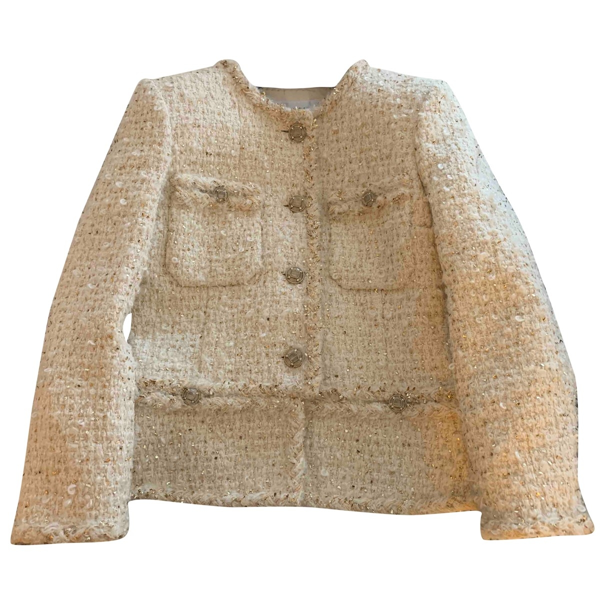 Chanel \N White Tweed jacket for Women 38 FR