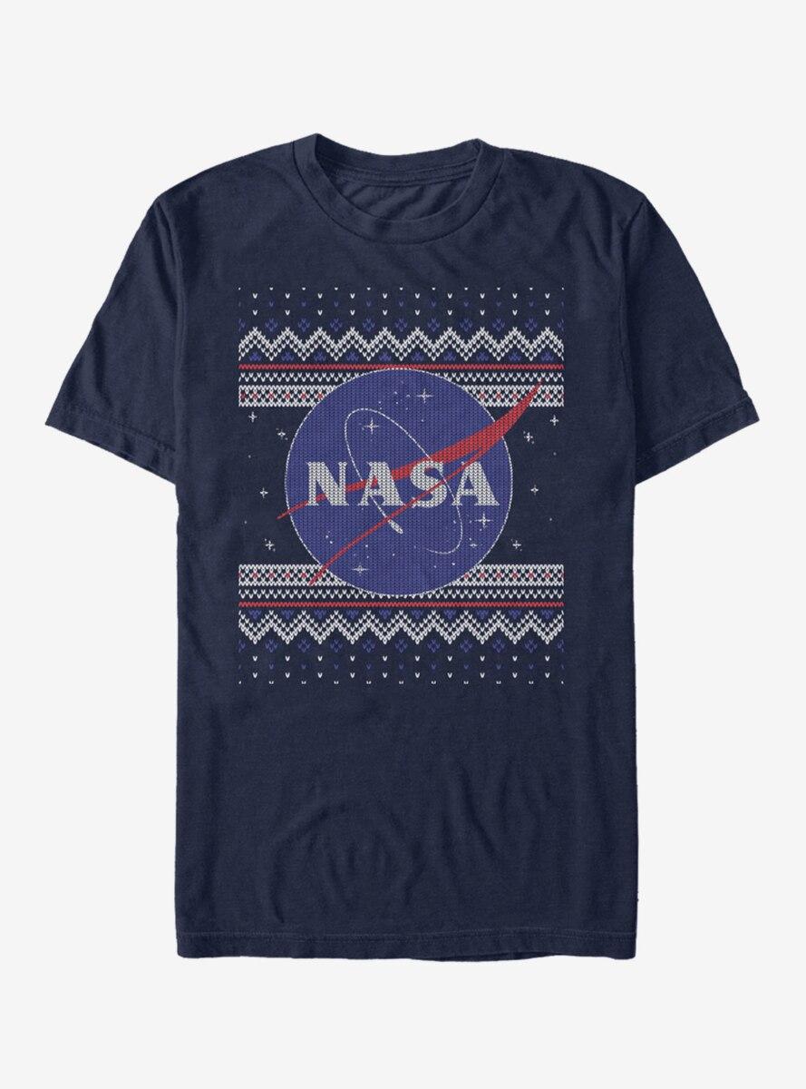 NASA Logo Ugly Christmas Sweater Print T-Shirt