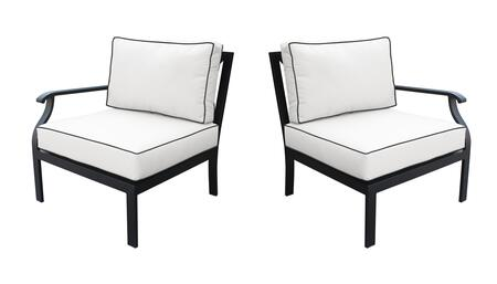 KI062b-LRAS-SNOW Madison Ave. Left Arm Chair and Right Arm Chair with 2 Sets of Snow