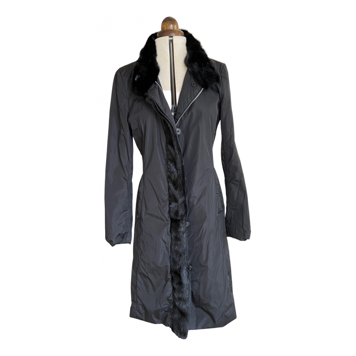 Prada N Black Fur coat for Women 42 IT