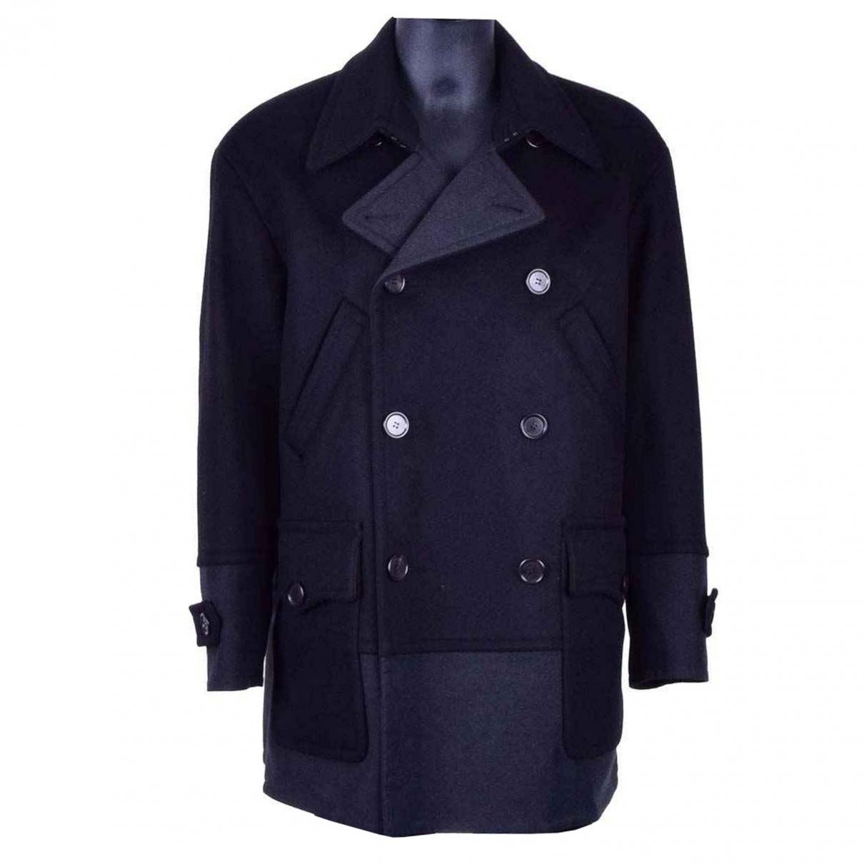 Dolce & Gabbana - Manteau   pour homme en laine - marine