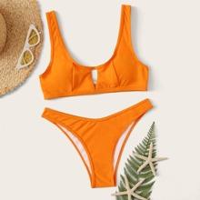 Solides High Cut Bikini Set