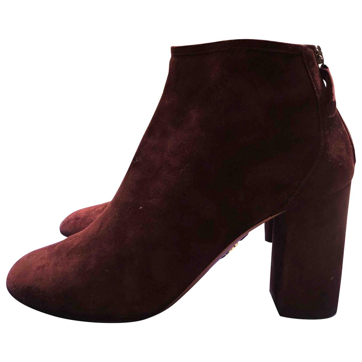 Aquazzura \N Leather Boots for Women 36 EU