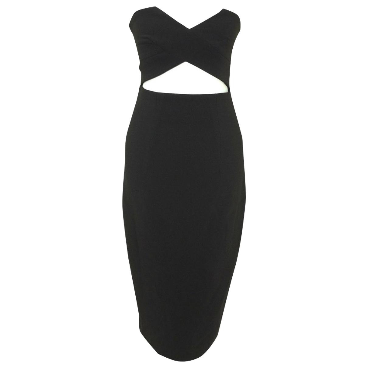 Solace London \N Kleid in  Schwarz Polyester