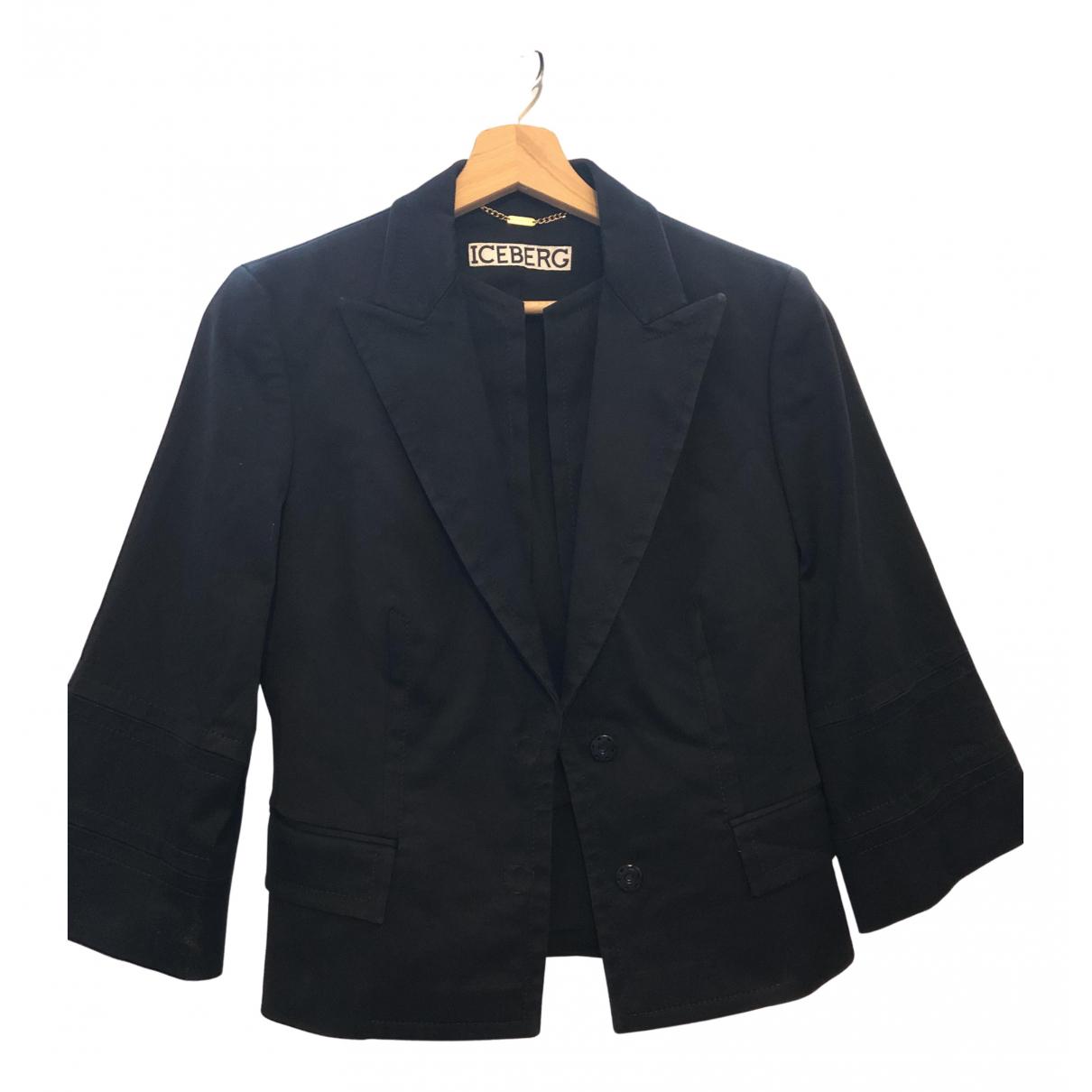 Iceberg N Black Cotton jacket for Women S International
