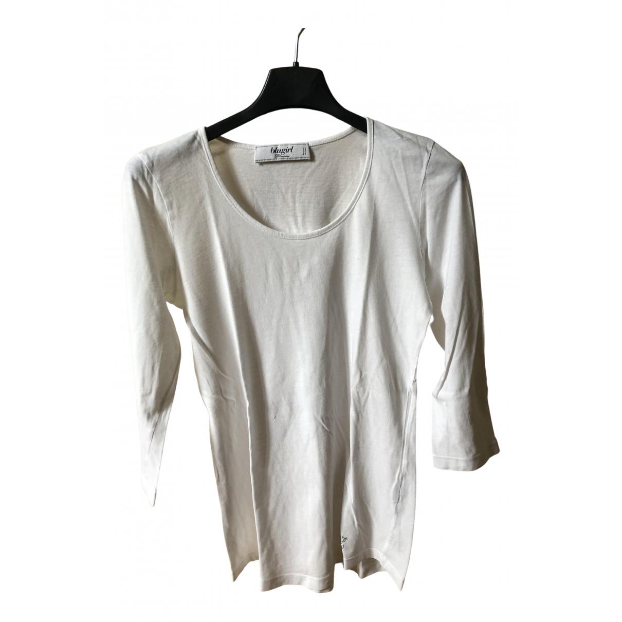 Blumarine \N White Cotton  top for Women XS International
