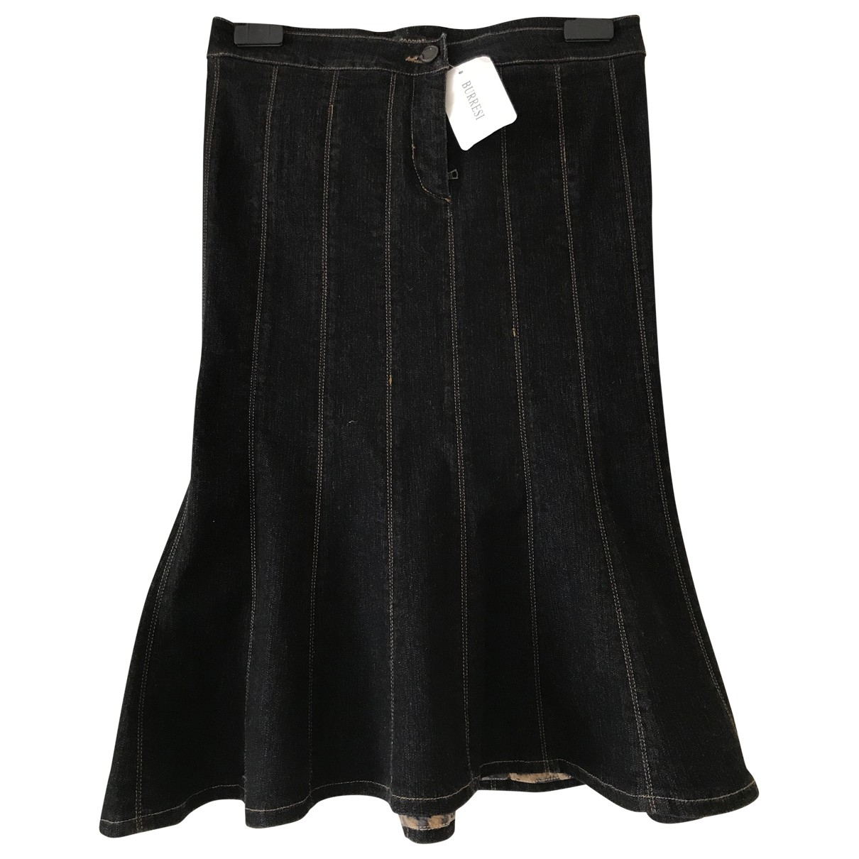 Roberto Cavalli \N Black Denim - Jeans skirt for Women 36 FR