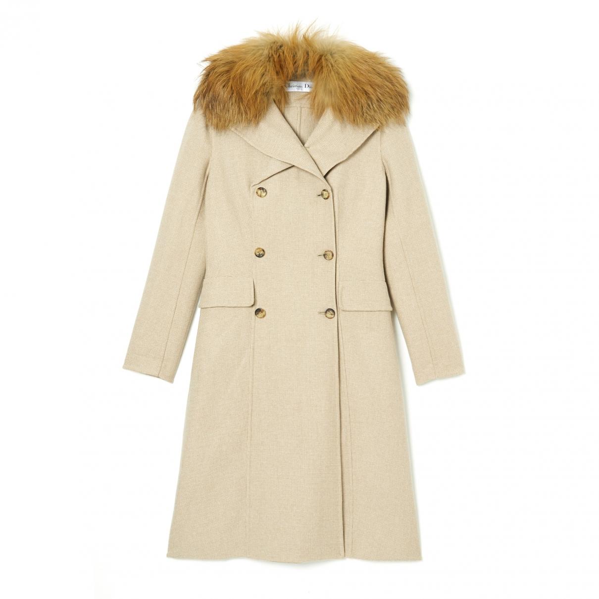 Christian Dior - Manteau   pour femme en laine - beige