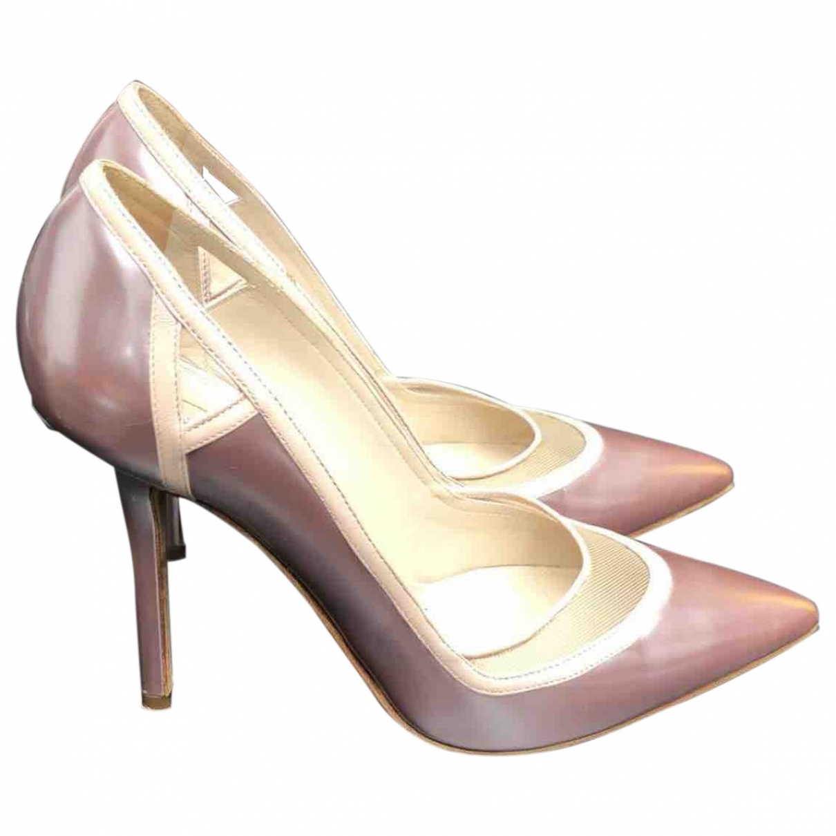 Elie Saab \N Pink Leather Heels for Women 37 EU