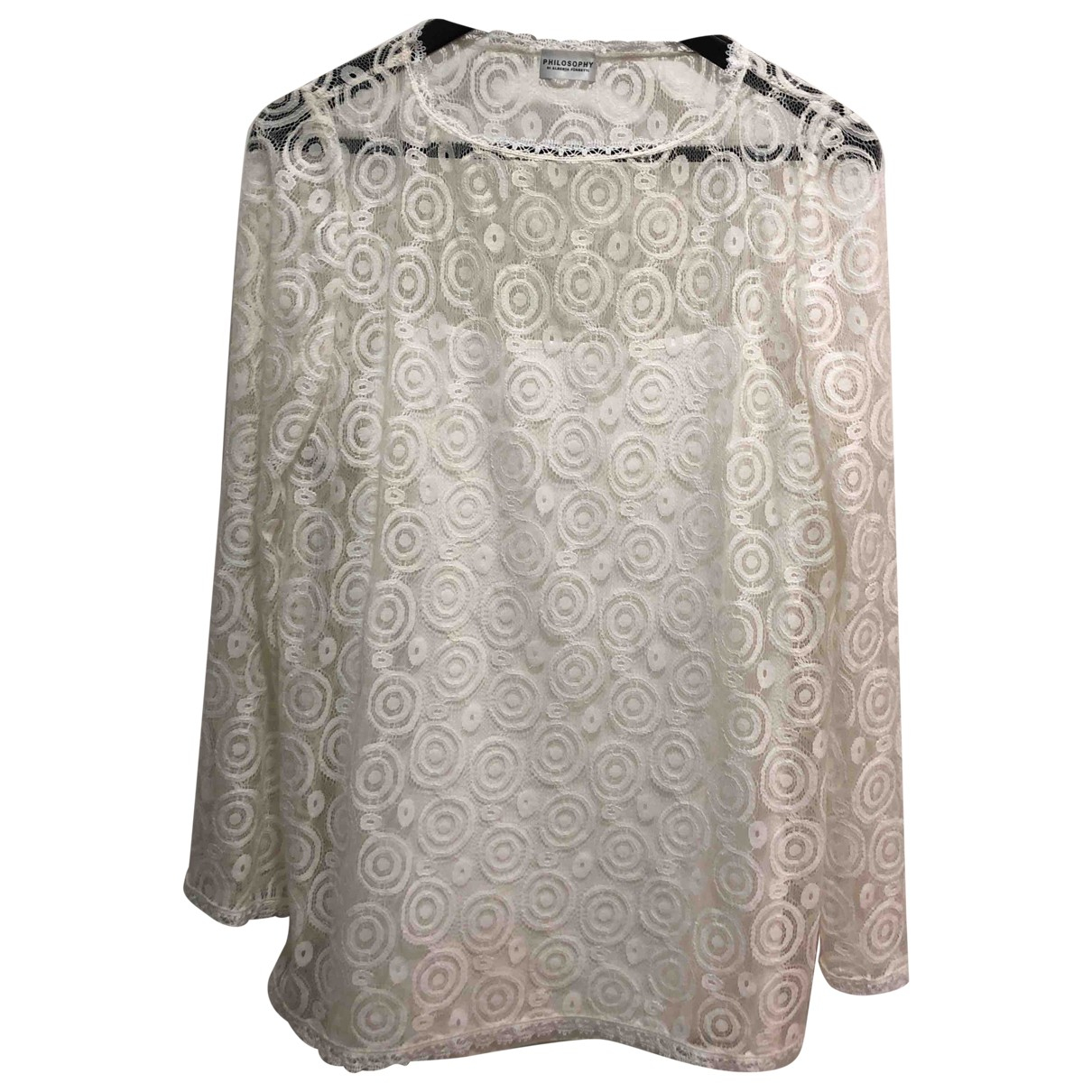 Philosophy Di Alberta Ferretti \N White Lace  top for Women 40 IT