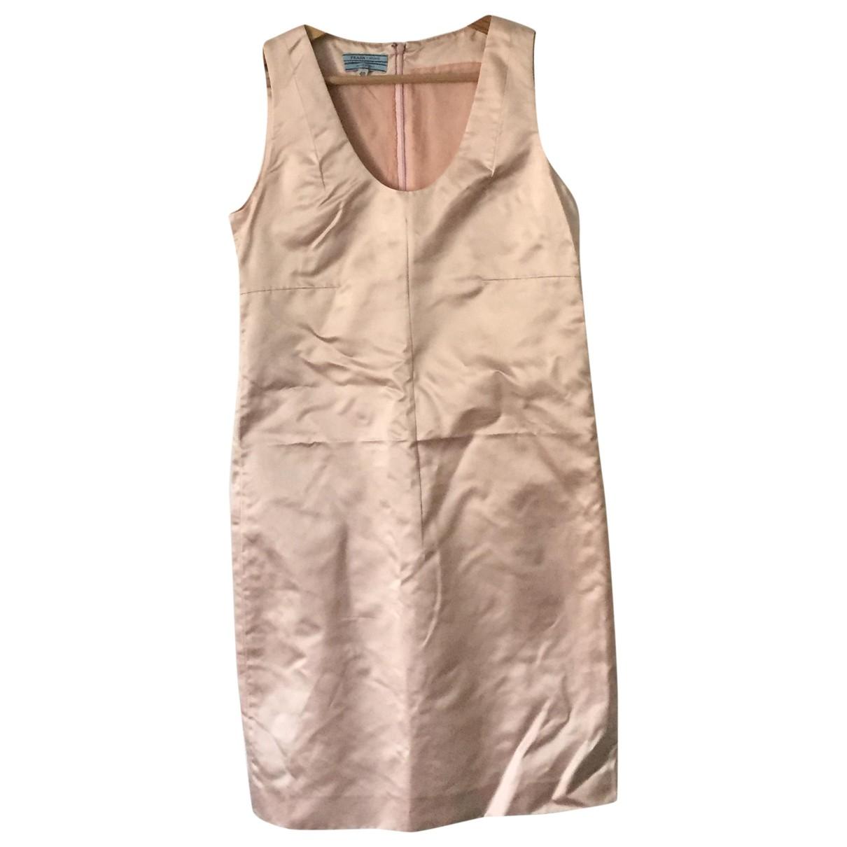 Prada \N Pink Silk dress for Women 40 IT