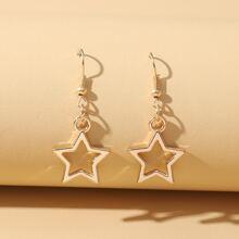 Ohrringe mit Stern Dekor