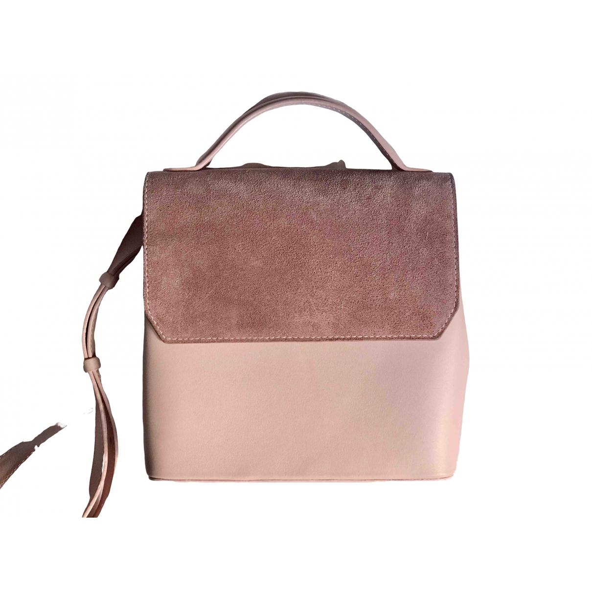 Mlouye - Sac a main   pour femme en cuir - rose