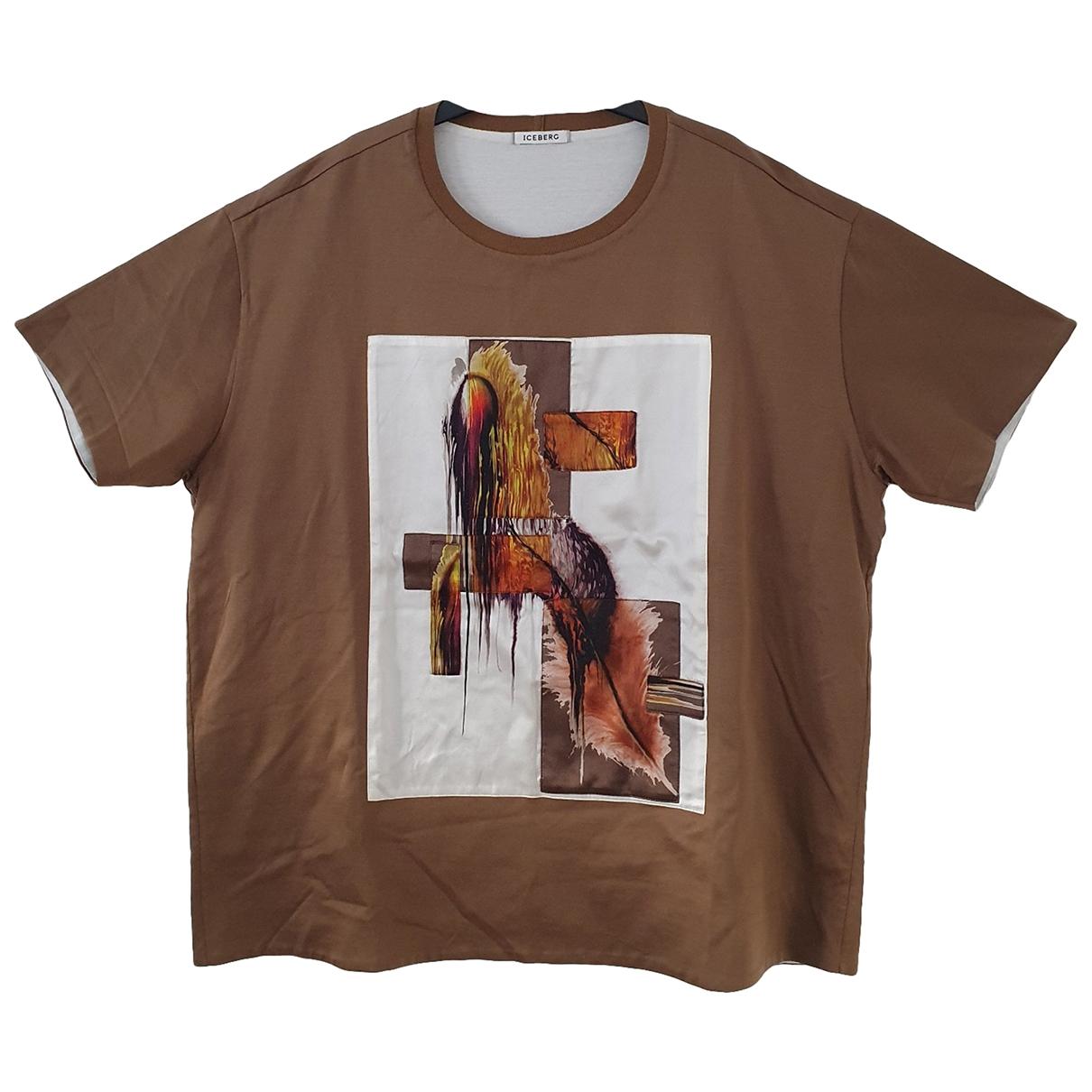 Iceberg - Tee shirts   pour homme en coton - ecru
