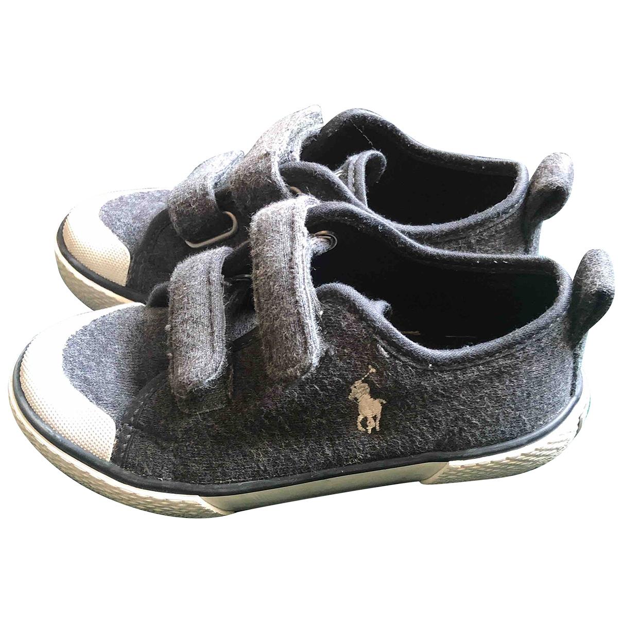 Polo Ralph Lauren \N Sneakers in  Grau Leinen
