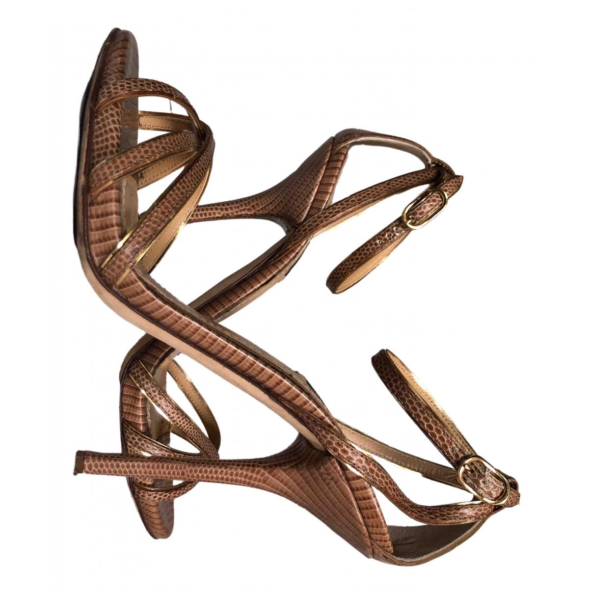 Dolce & Gabbana \N Sandalen in  Braun Echse