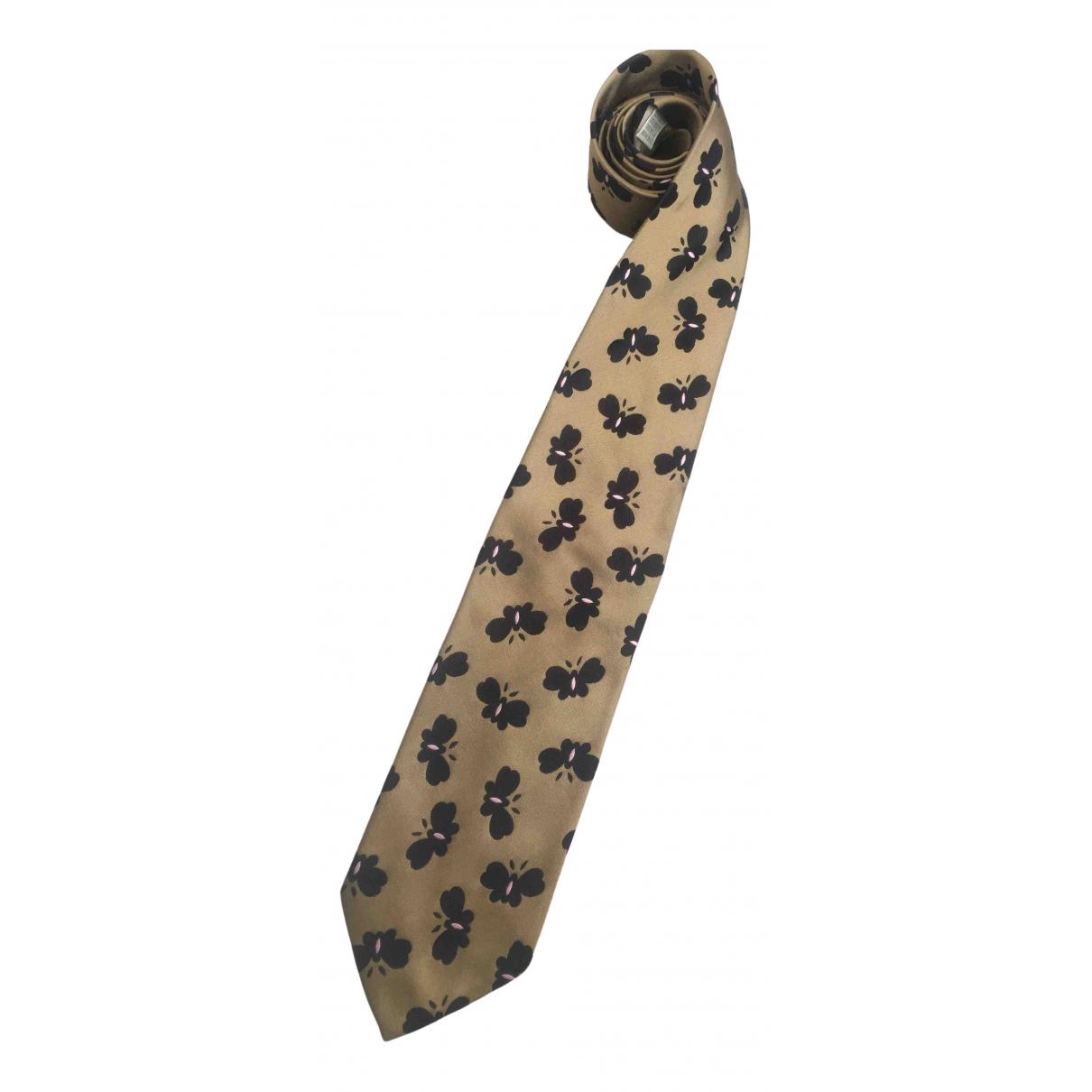 Moschino \N Krawatten in  Gold Seide