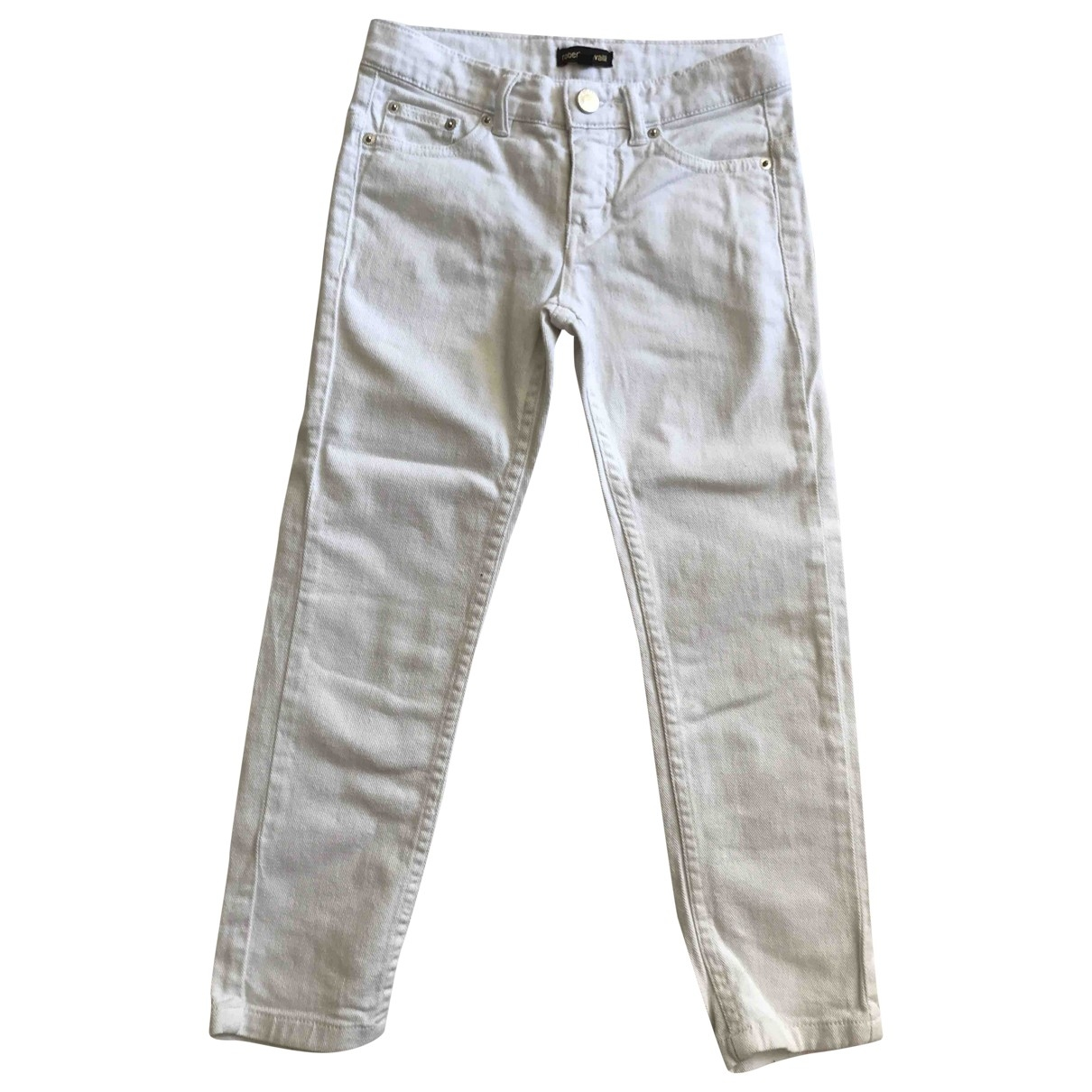 Roberto Cavalli \N White Cotton Trousers for Kids 6 years - up to 114cm FR
