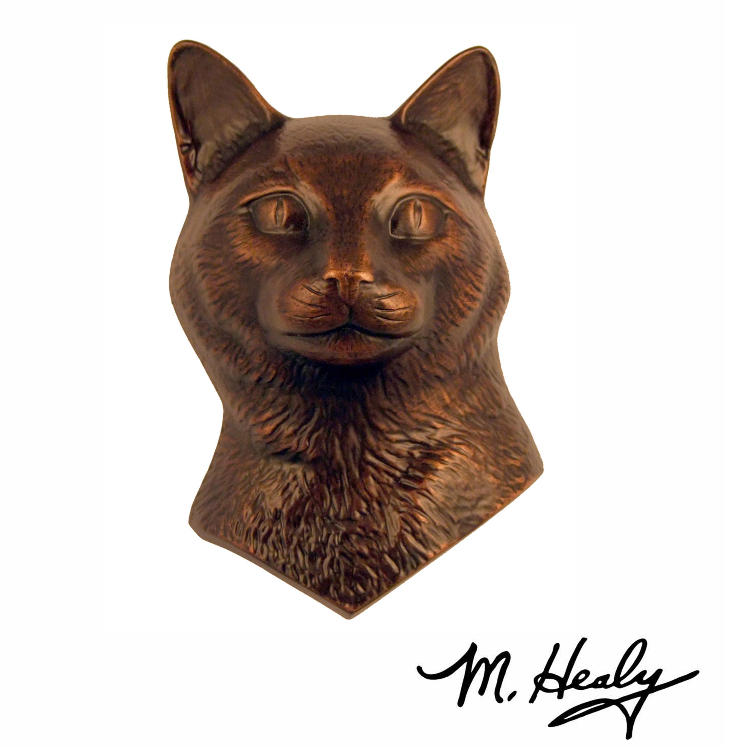 Cat Door Knocker, Bronze