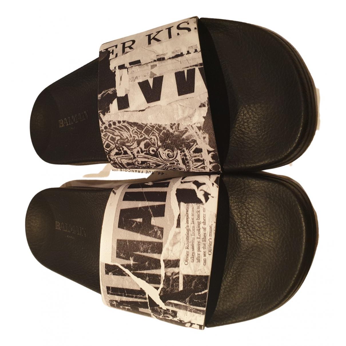 Balmain - Sandales   pour femme en cuir - noir