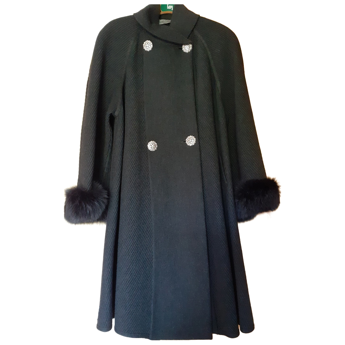 Non Signé / Unsigned \N Grey Wool coat for Women 44 FR