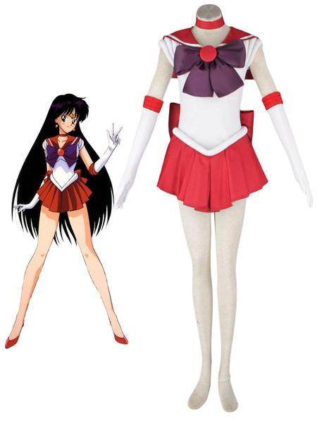 Milanoo Halloween Disfraz Carnaval Traje para cosplay de Sailor Moon Sailor Mars de Sailor Moon Carnaval