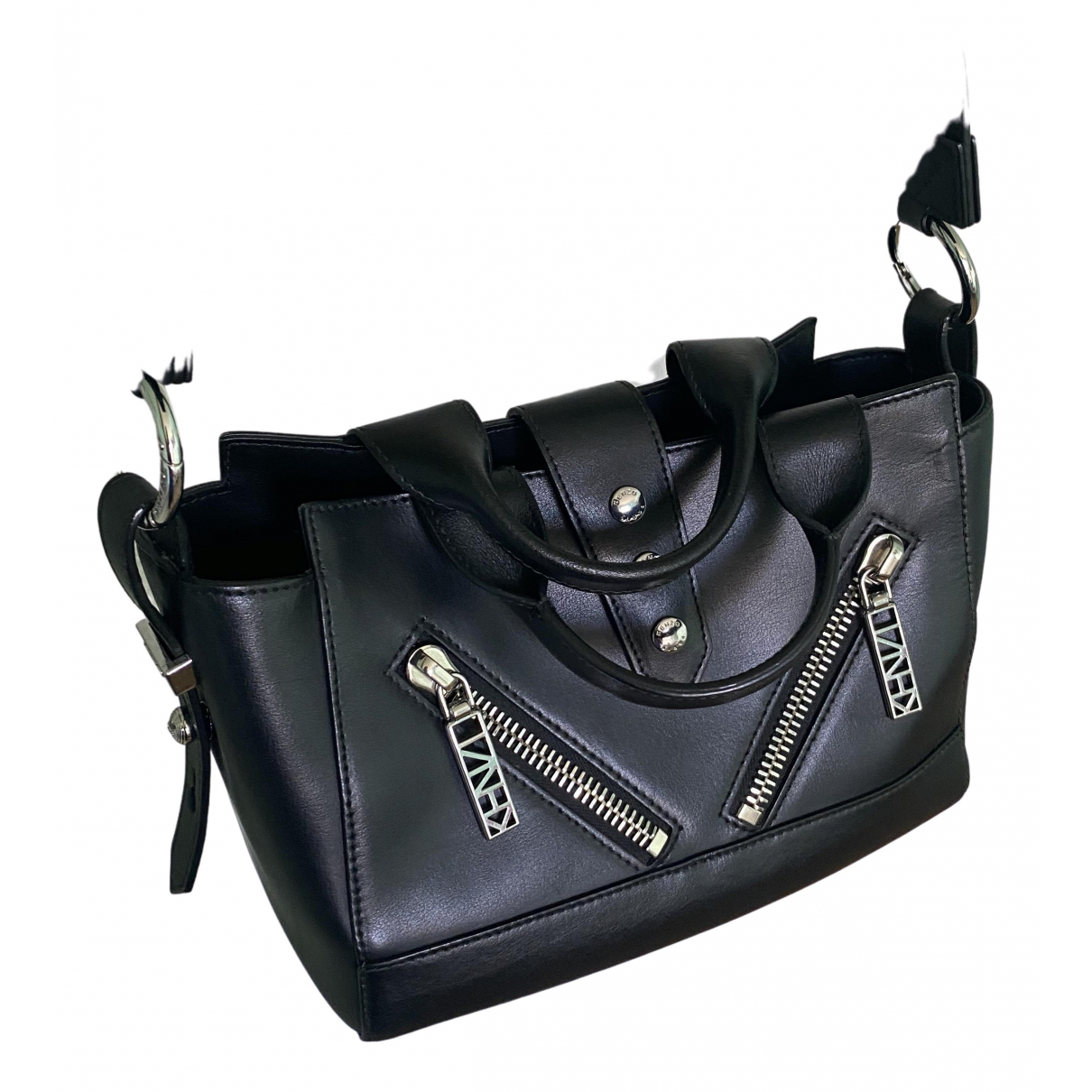 Kenzo Kalifornia Handtasche in  Schwarz Leder