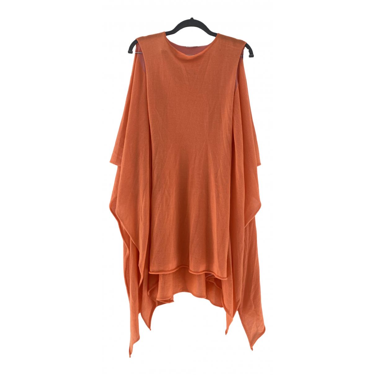 Jil Sander \N Kleid in  Orange Wolle