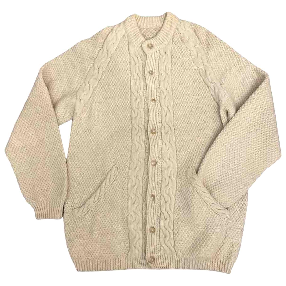 - Pull Crochet pour femme en laine - blanc