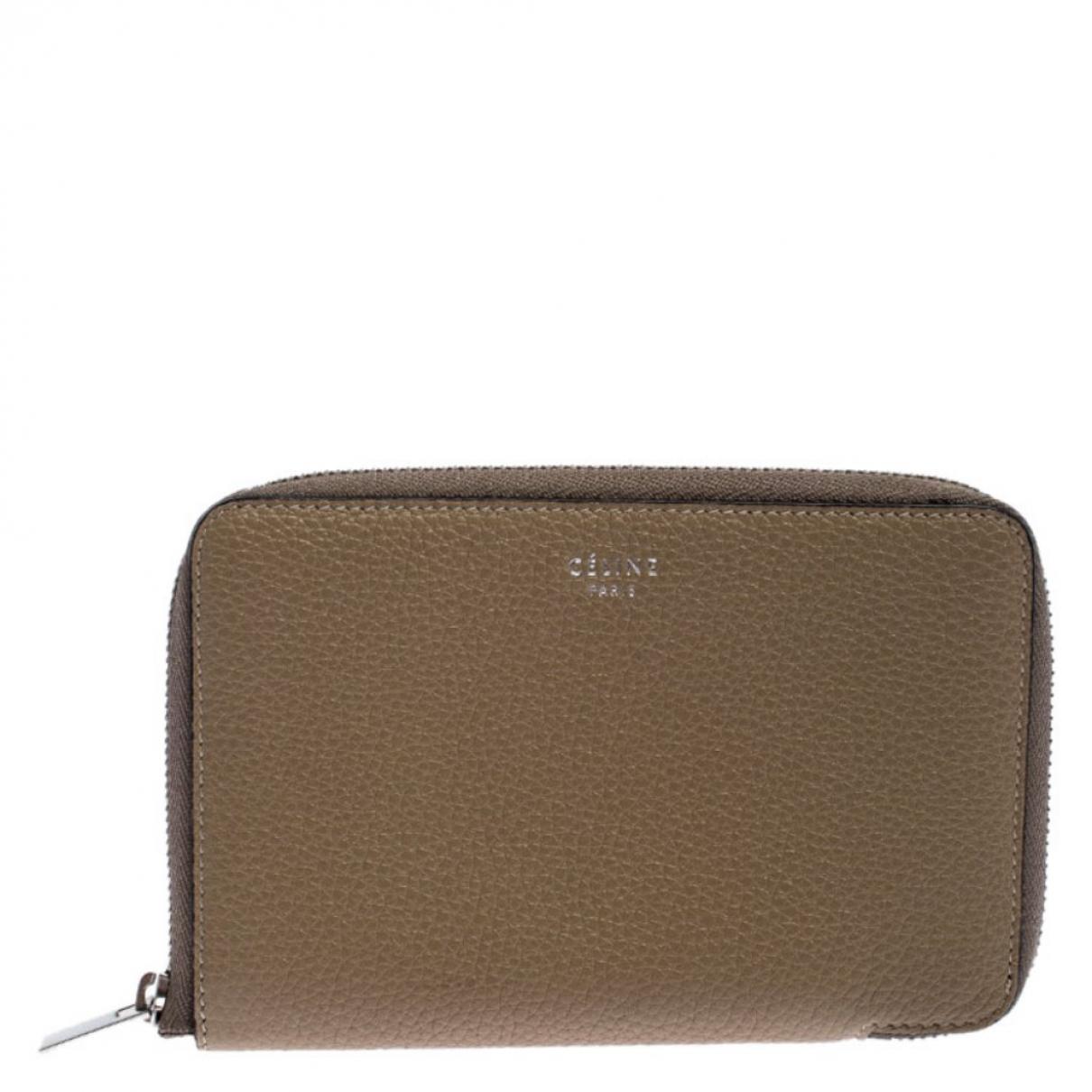 Celine \N Beige Leather wallet for Women \N