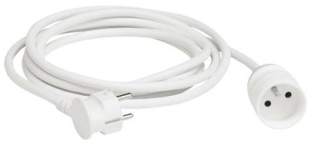 Legrand 10m 1 Socket Type E - French Extension Lead, White