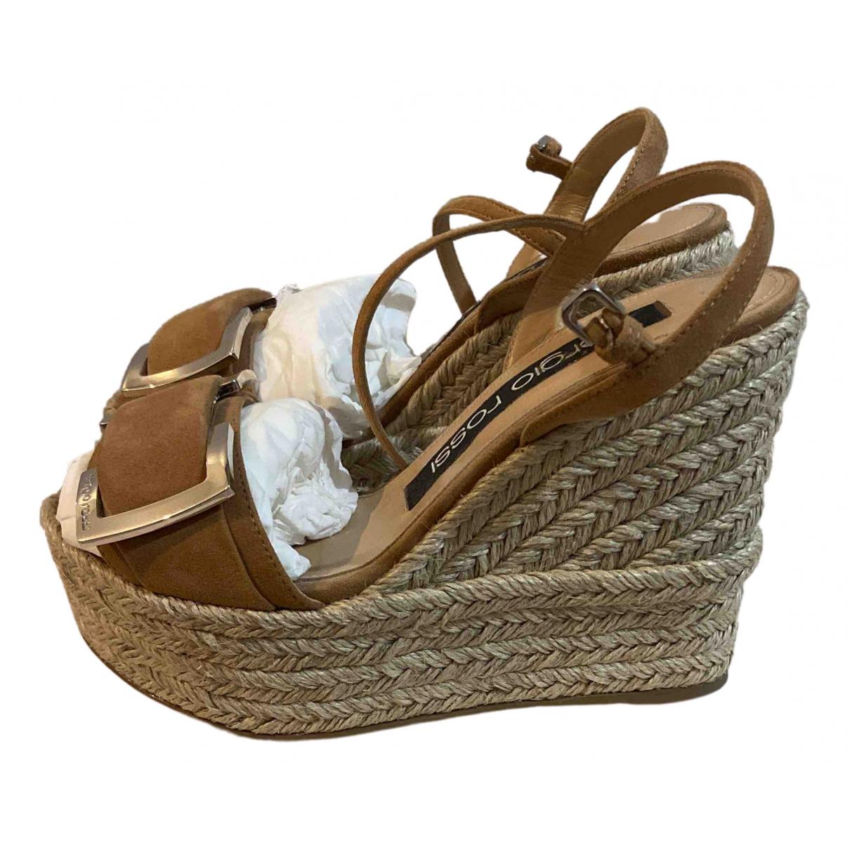 Sandalias de Terciopelo Sergio Rossi