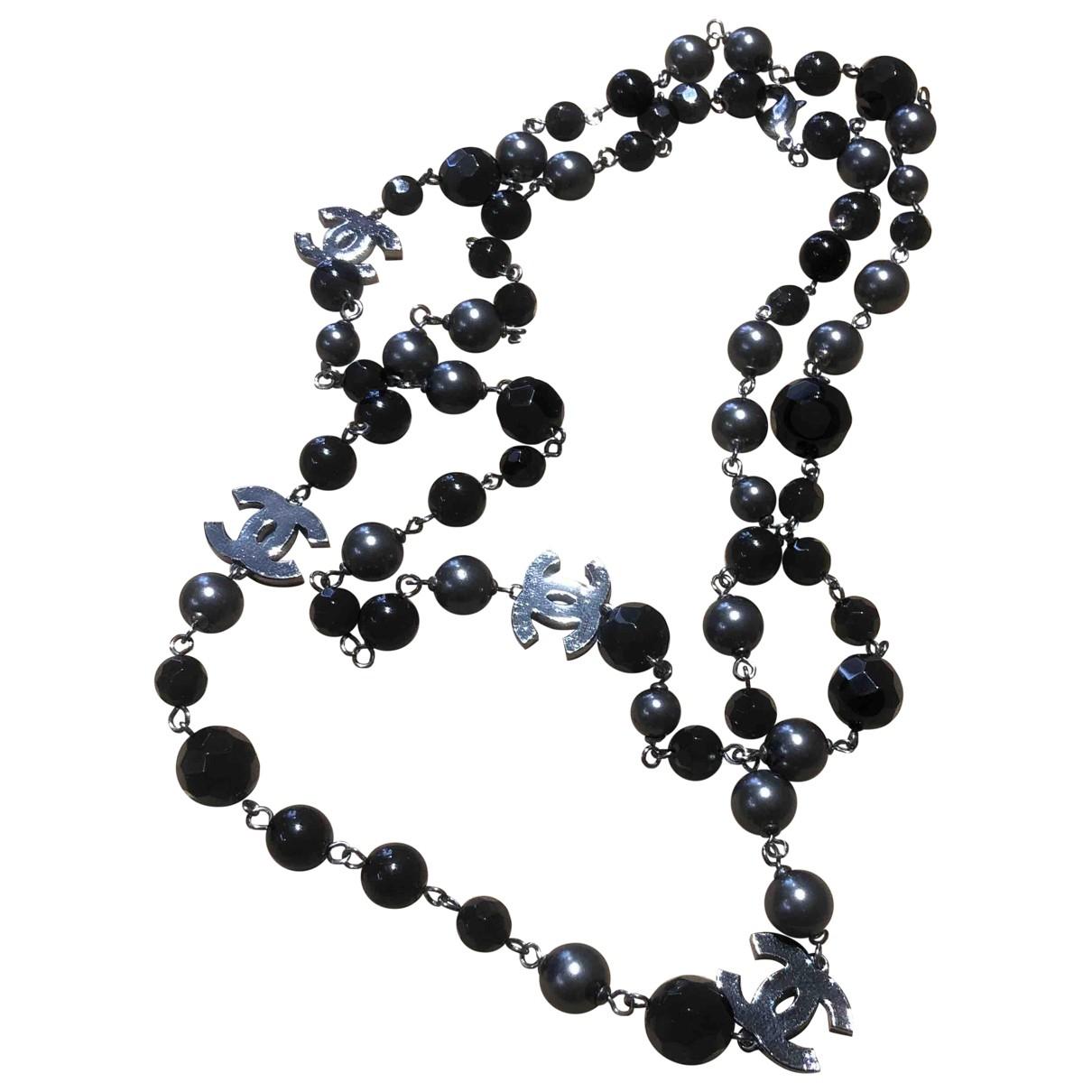 Chanel \N Kette in  Grau Perlen