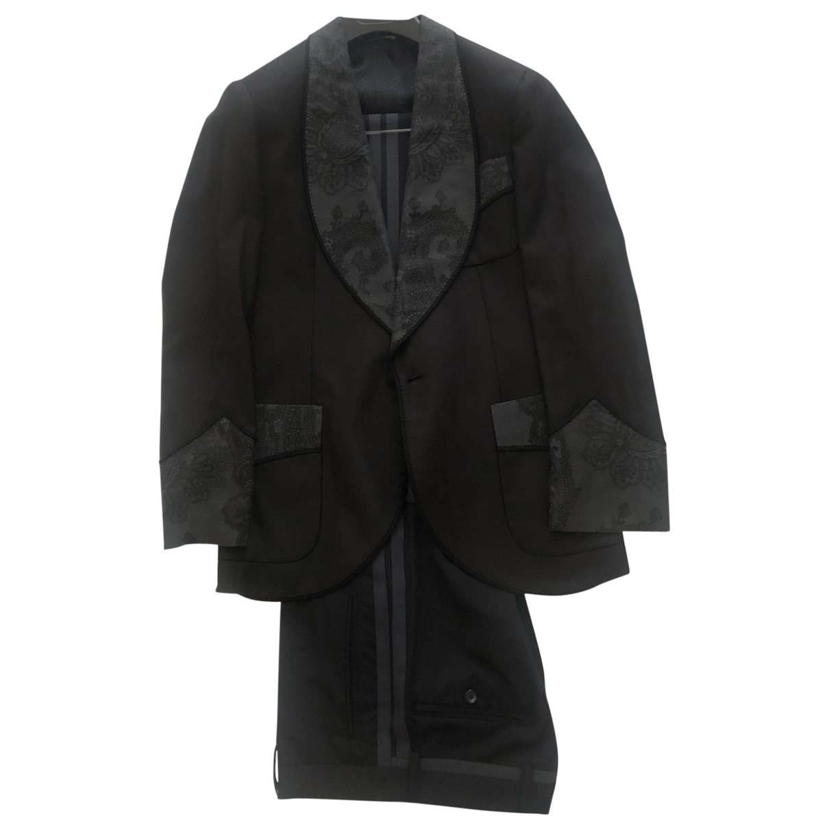 Dolce & Gabbana \N Black Wool Suits for Men 44 IT
