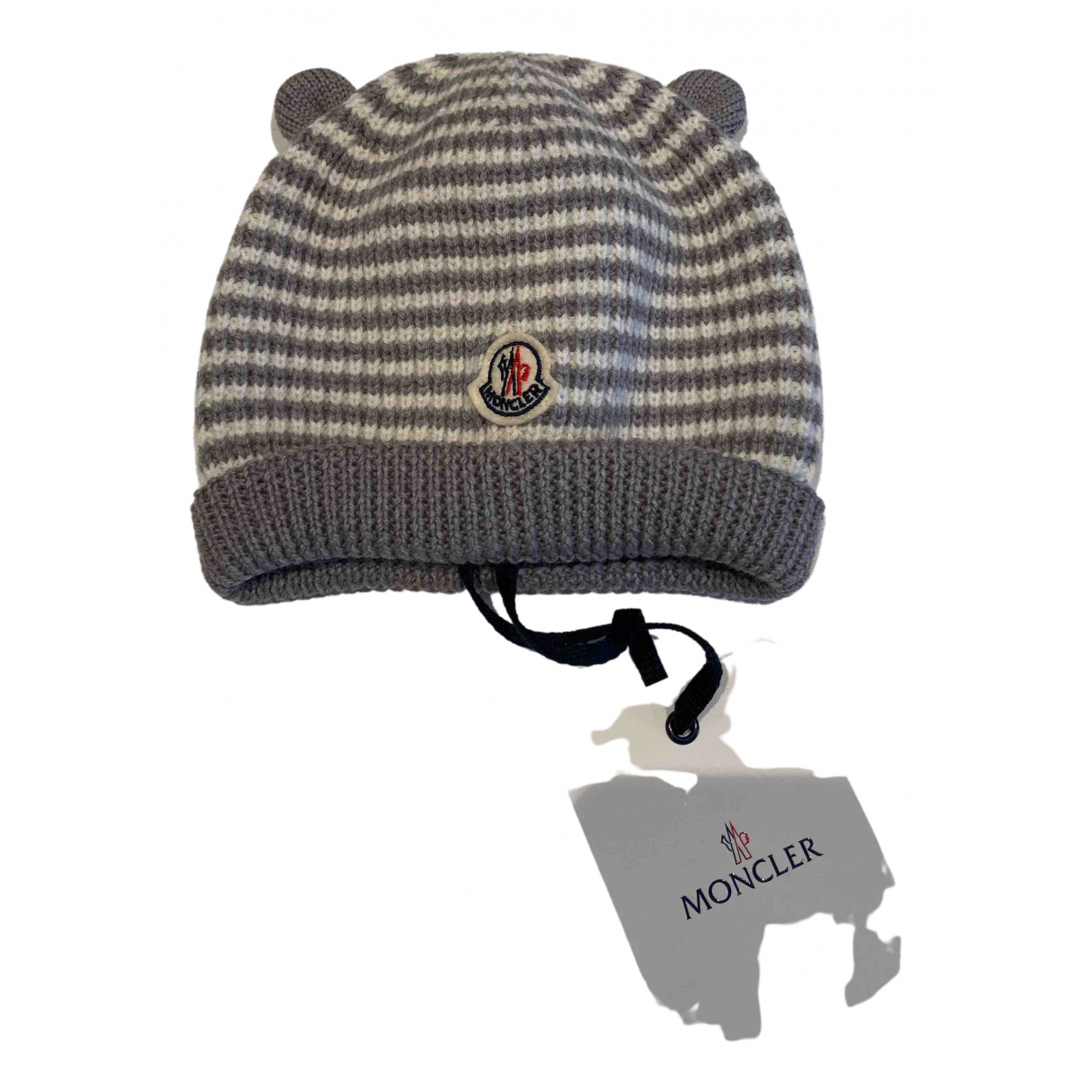 Moncler N Grey Wool hat & Gloves for Kids N