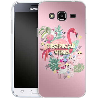 Samsung Galaxy J3 (2016) Silikon Handyhuelle - Flamingo Solo von Mukta Lata Barua