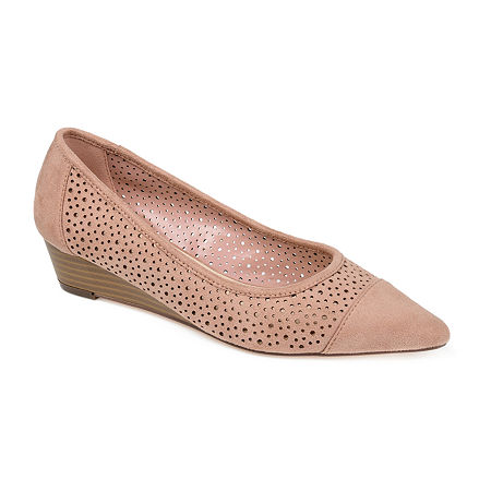 Journee Collection Womens Finnola Pointed Toe Slip-On Shoe, 8 1/2 Medium, Pink