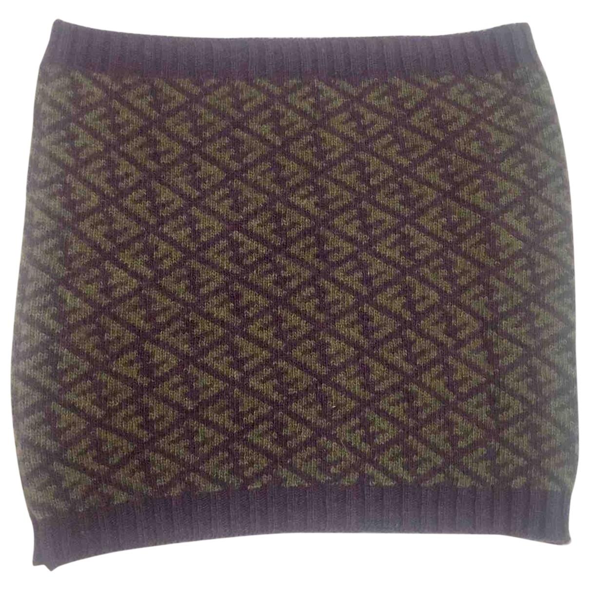 Fendi - Foulard   pour femme en laine - multicolore
