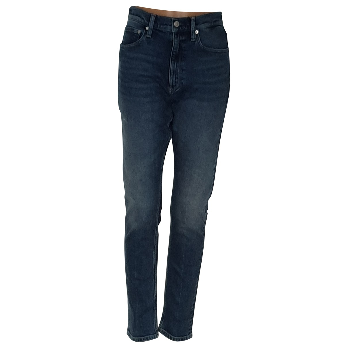 Calvin Klein N Blue Cotton - elasthane Jeans for Women 38 FR