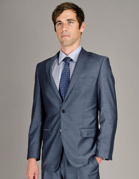 Men's Single Sharkskin Giorgio Fiorelli Brsuits Flat Front Pants