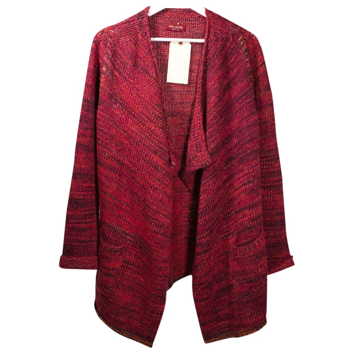 Zadig & Voltaire - Pull   pour femme en laine - bordeaux