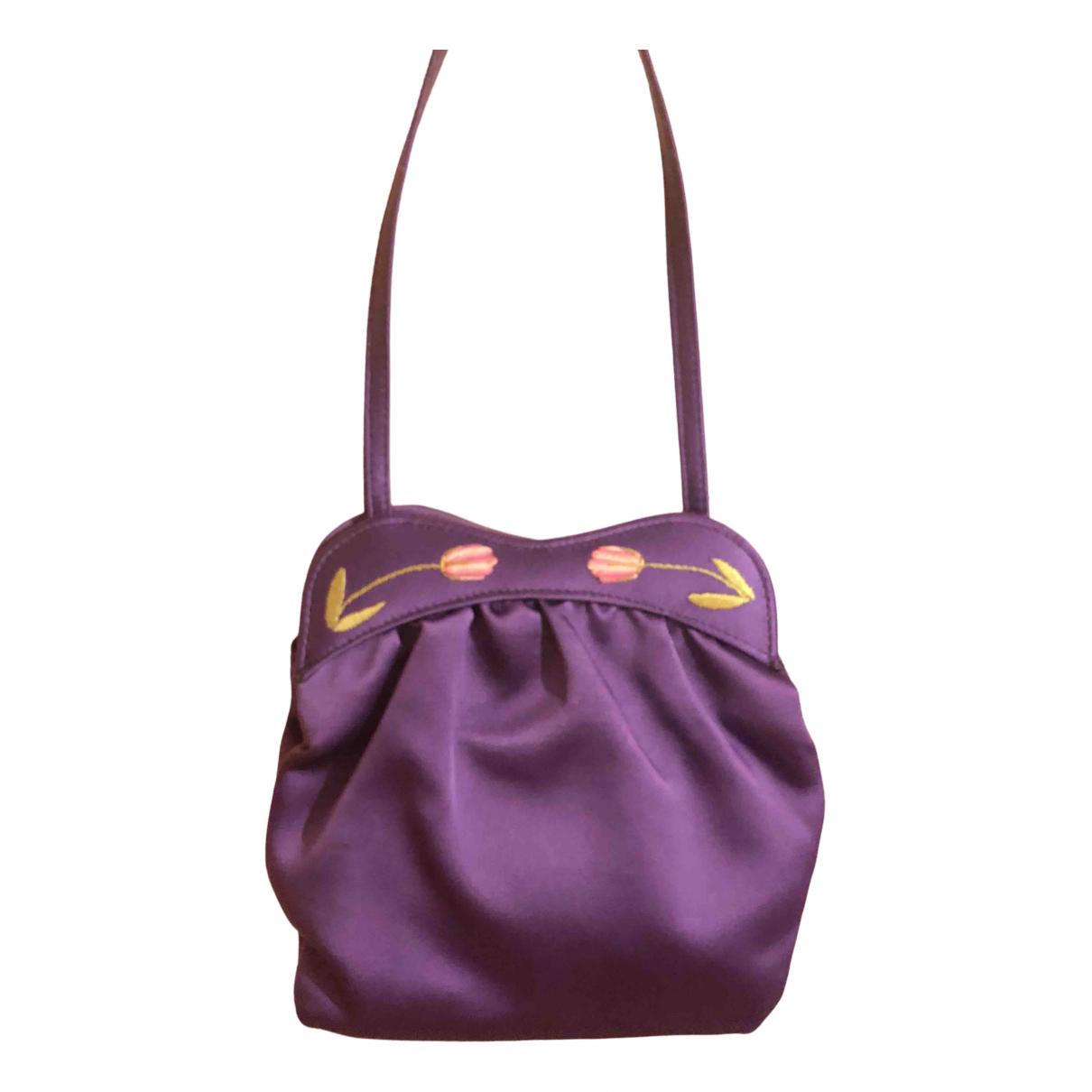 Lulu Guinness - Sac a main   pour femme en soie - violet