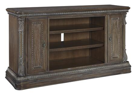 BM210627 2 Door Traditional Wooden TV Stand with Adjustable Shelves  Large
