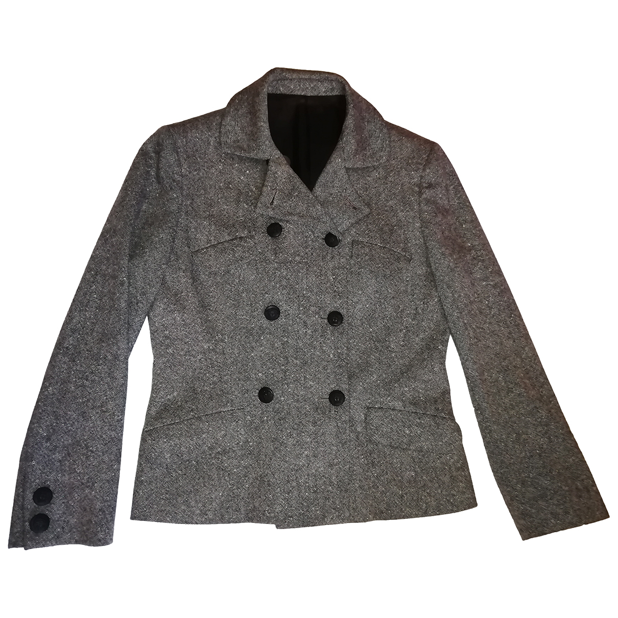 Versace N Grey Wool jacket for Women 42 IT